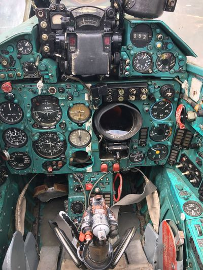 Mig21 Cockpit Military Airplane Technology No People Machine Part Variation Indoors  Retro Styled Day Close-up Gauge Aerospace Industry