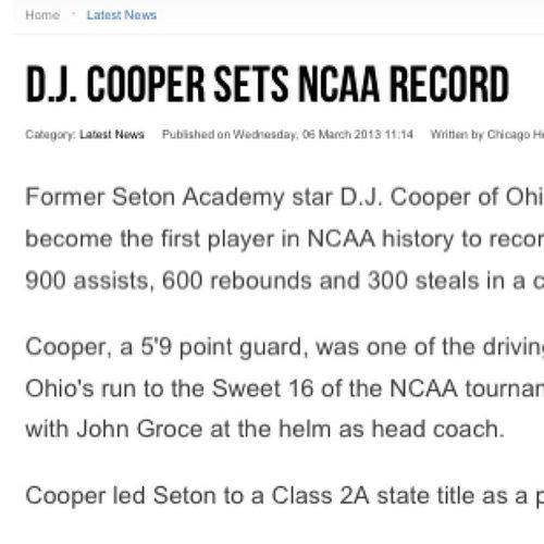 Big s/o @djcoop5 one of the best PGs I've ever coached. Love you boy! Keep putting in this work. We got goals 2 meet. Bobcatnation TeamCoop