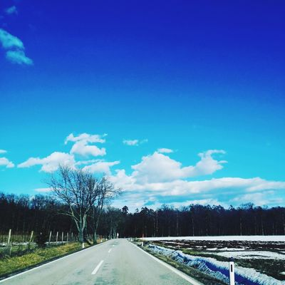 Road The Way Forward Nature Cloud - Sky Outdoors Transportation Scenics Day Landscape Beauty In Nature Blue Tree No People Sky
