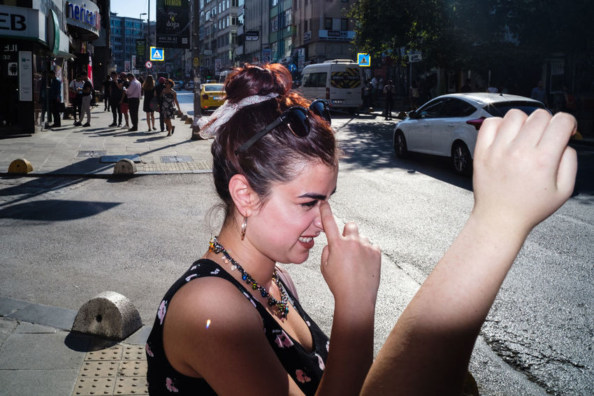 2018 Flash Photography Streetphotography Street Photography Streetphoto_color Streettogs Everybodystreet Human Condition Documentary Photography Social Documentary Sokakhikayeleri The Street Photographer - 2018 EyeEm Awards Photo Messaging Wireless Technology Selfie City Young Women Headshot Mobile Phone Photographing Portrait Communication