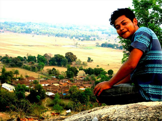 Happy People My Village Nature Tribals Vibrant Mountain View