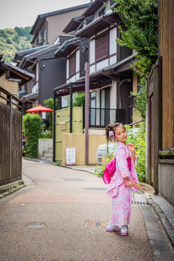 Asian girl in Japanese costume Moms & Dads Cute Outdoors Pink Color One Person Females Child Portrait First Eyeem Photo Charming History Beautiful People Beauty Period Costume Japanese Style Japanese Temple Costume Girl Cultures Japan Kyoto My Best Photo Love Beautiful Travel International Women's Day 2019