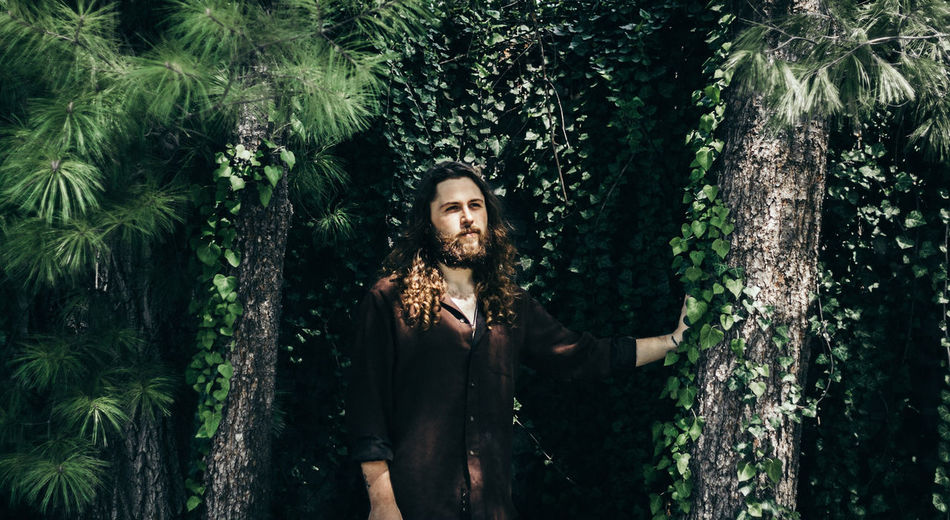 The Secret Spaces Portrait Young Adult Beauty Beard Beautiful People Looking Nature Beautiful People One Person Tree Outdoors Beauty In Nature Forest Adult Social Issues People One Woman Only Adults Only Day