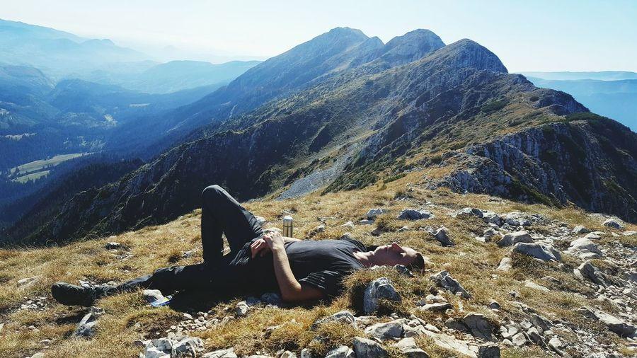 rest & relax Relaxing Sleeping Peak Romania Brasov EyeEm Selects Mountain Sunlight Sky Rocky Mountains Tranquil Scene Calm Non-urban Scene