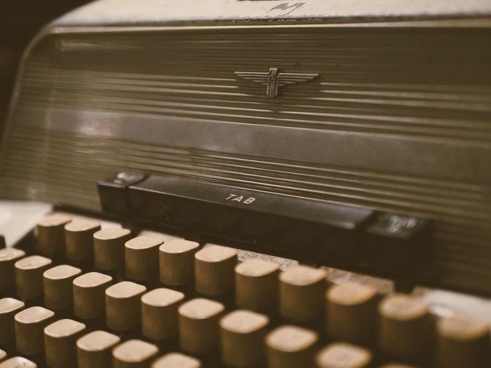 Full frame shot of vintage typewriter
