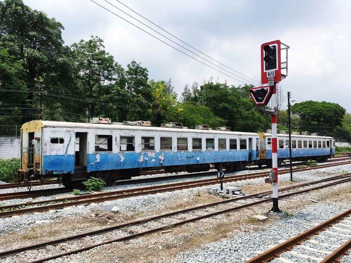 Train Old Train Railroad Track Train - Vehicle Day Communication Railway Signal Travel Railroad Station Platform