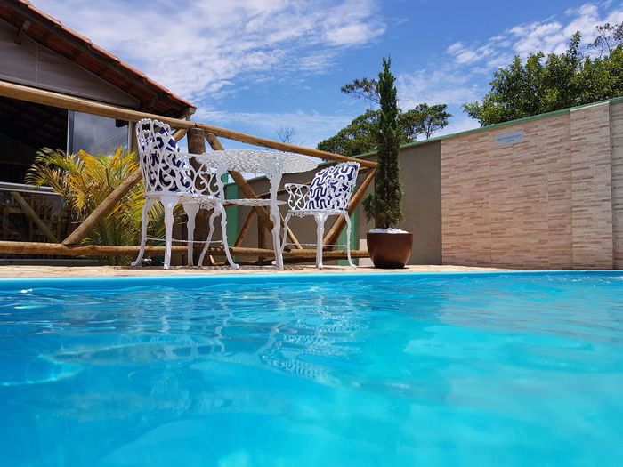 Sol e piscina Relaxing Trip Swimming Pool Water Tree Sky Blue Cloud - Sky Vacations Day Travel Destinations