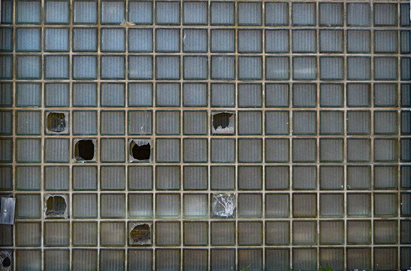 Abandoned Broken Damaged Glass Glass - Material Pattern Wall Window