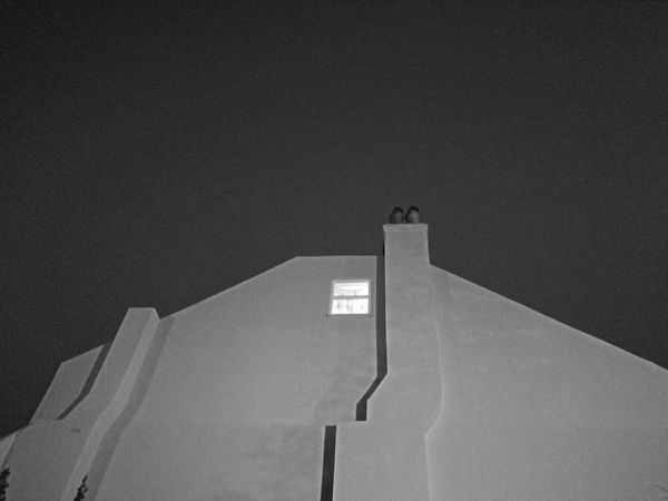 dramatic dwelling Night Shot Tower Lonely Window Monochrome Spooky House Spooky Night black and white friday Black And White Architecture Built Structure Building Exterior