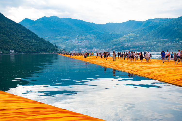 Short trip to Italy ... 1807km in 25 h ArtWork Christo Day Floating Piers Installation Art Italy Kunst Landscape Nikonphotography Outdoors The Great Outdoors - 2016 EyeEm Awards The Week Of Eyeem Travel Destinations Water Weekend Activities Art Is Everywhere