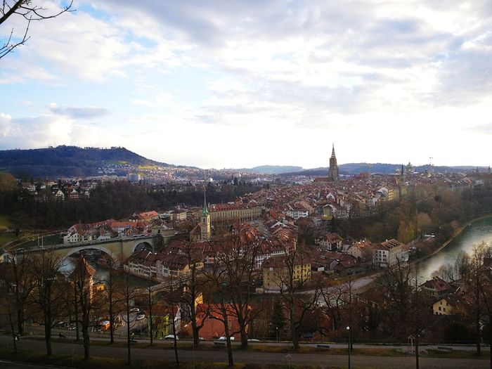 Bern Switzerland Rosengarten City Sport Sky Cloud - Sky