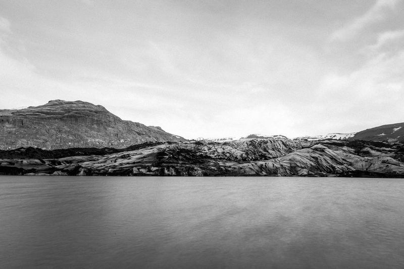Beauty In Nature Bestoftheday Black & White Blackandwhite Canon Cloudy Filter Filtered Image Glacier Glaciernationalpark Ice Iceland Landmesser Landscape Long Exposure Longexposure Majestic Mountain Mountain View Nature New Outdoors Photography Picoftheday Sky First Eyeem Photo