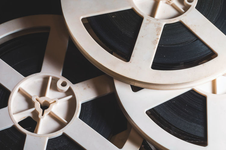 Film Projector Objects Retro Close-up Day Electric Fan Indoors  No People Reels Technology Vintage