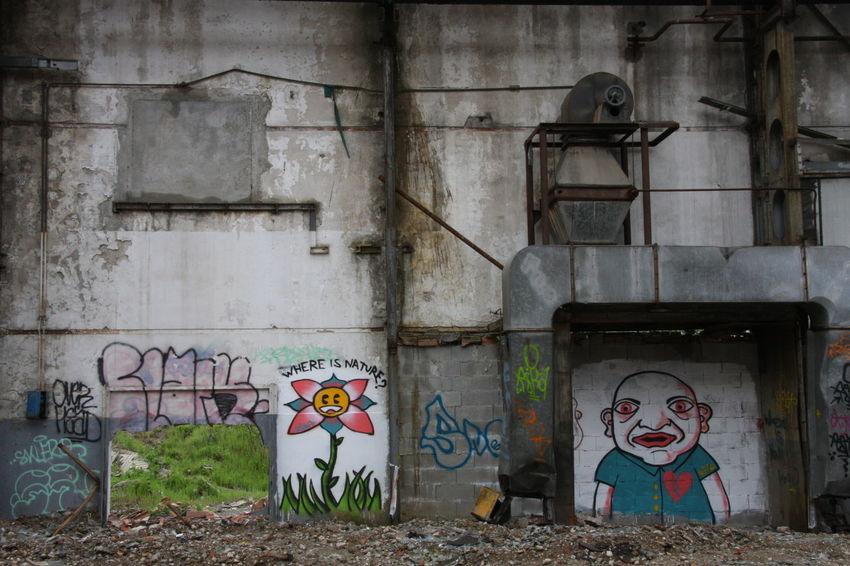 Art Creativity Factory Graffiti Nature Ruins Urban Wall