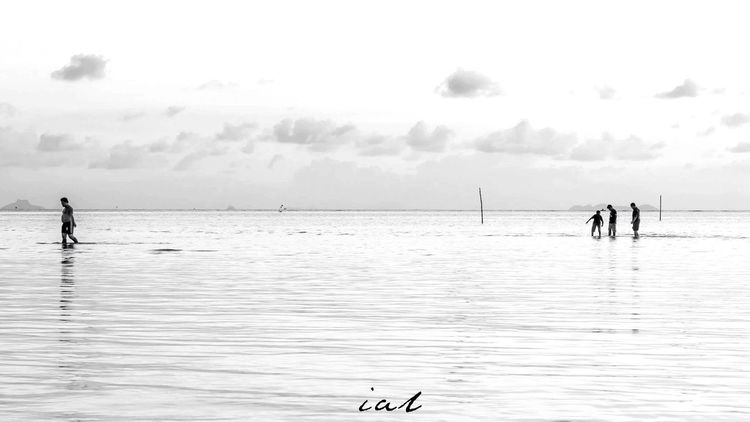 4 Water Sea Nature Real People Beach Beauty In Nature Sky Black And White Monochrome Landscape_Collection Landscape #Nature #photography Landscape_captures Black & White Blackandwhite Photography Ocean Bw Bwphotography Monochrome Photography Landscape_photography