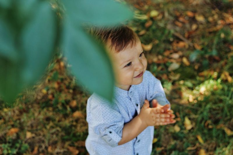 Child Childhood One Person Real People Babyhood Focus On Foreground Innocence Young Nature Cute Leisure Activity Casual Clothing Plant Waist Up Portrait Baby Day Toddler  Looking Outdoors Autumn Mood The Modern Professional Moms & Dads