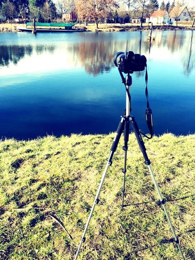 Taking Photos Taking Photos Camera Nikon D3200 Nikon At Work Iphonephotography IPhoneography Iphone6 Water Water Reflections Waterfront Boat Field Tripod Sunny Day Sunny Showcase: February