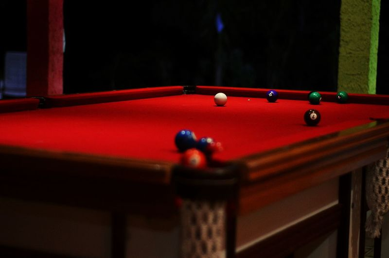 Red Sport Pool Table Pool Cue Pool Ball Pool - Cue Sport Indoors  Ball Close-up Leisure Games No People Pool Hall Snooker Cue Ball Snooker And Pool