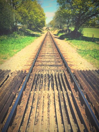 Train Tracks Transportation The Way Forward Railroad Track Rails Adventure Adventures Out There Outdoors Day No People Scenics Calm Summer Iphonephotography IPhone IPhoneography Lines