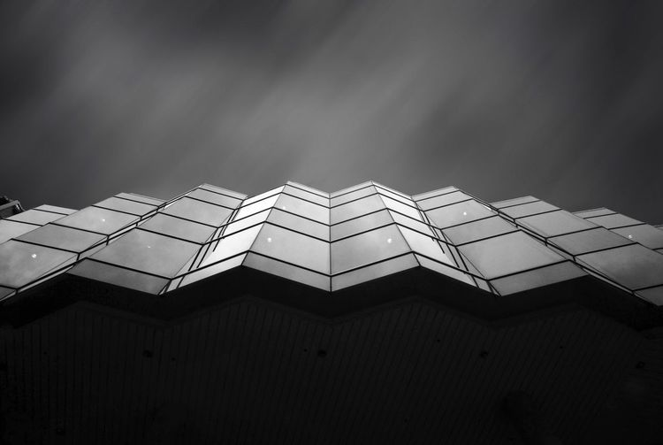 Blackandwhite Architecture Building Exterior Built Structure No People Modern Outdoors Day Sky City Reflection Samyang 12mm F2 Fujifilm Fujifilm_xseries FUJIFILM X-T1 Shadow Lines And Shapes