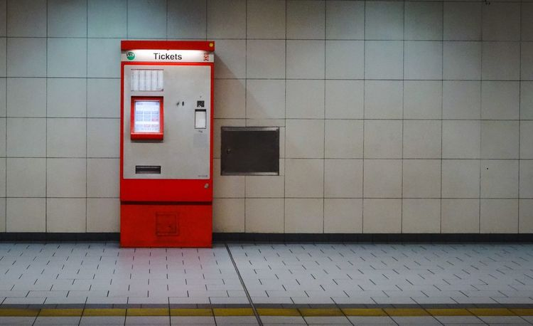 Communication Built Structure Machine Buy Red Tiled Floor Tile Convenience Indoors  Text No People Architecture Ticket Tickets Ticket Machines Ticket Counter Cologne Germany Lights Underground Underground Station  Day