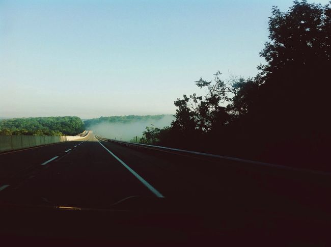 Landcape On The Road Vanishing Point