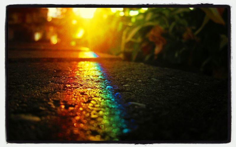 Rainbow Sunshine Reflection Groundtexture