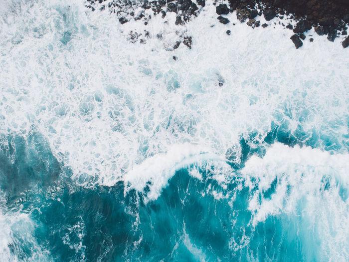 Full frame shot of wave splashing water
