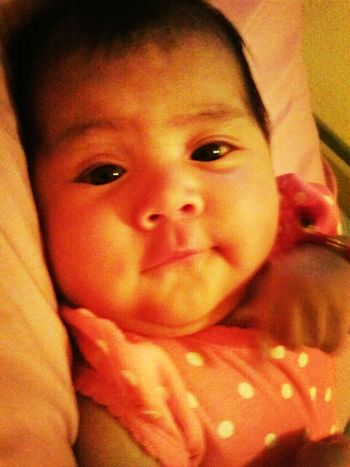 She was in my bed talking to me lol (: baby adelynn ! #she #so #cuttee #i #love #you