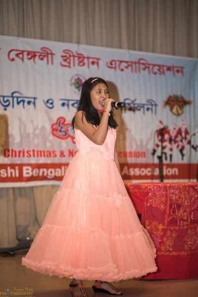 Athena's Performance Sagrey Turjo Photography Jackson Heights New York Bengalis New York City PBCA Princess Probashi Bengali Christian Association Sagrey Turjo Sagrey Turjo Photograph Bengali Culture Fashion Lifestyles Little Girl Looking At Camera One Person Real People Smiling