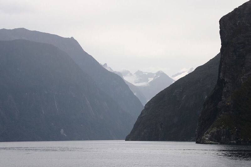 SCENIC VIEW OF MILFORD SOUND IN NEW ZEALAND