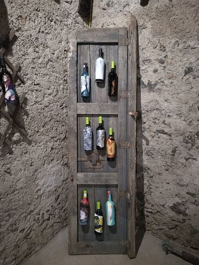 High Angle View Scenics Wine Food And Drink Winecountry Winery Artgallery Winetime Wine Bottles Drink Arts Culture And Entertainment Arts Art Gallery