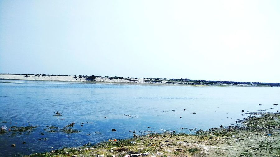 The Ganga River, India River Water Pollution India Ganga Nature And Human Scenery Water Clear Sky Blue Idyllic