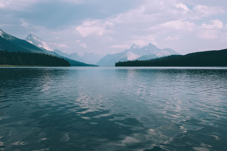 MaligneLake Nature Nature Photography Wildlife & Nature Beauty In Nature Canada Day Idyllic Lake Maligne Lake Mountain Mountain Range Nature Nature_collection No People Outdoors Reflection Rippled Scenics Sea Sea And Sky Sky Tranquil Scene Tranquility Water Waterfront
