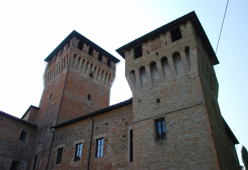 The Castle of Montecchio Emilia, Emilia Romagna, Italy. Architecture Building Building Exterior Built Structure Castle Day Emilia Romagna Europe History Italia Italy Low Angle View Medieval Montecchio Emilia No People Old Outdoors Sky