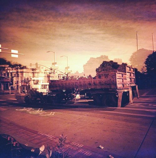 My Hood >>>> Architecture Double Exposure Koduckgirl Lca 120 Redscale Real Film Outdoors