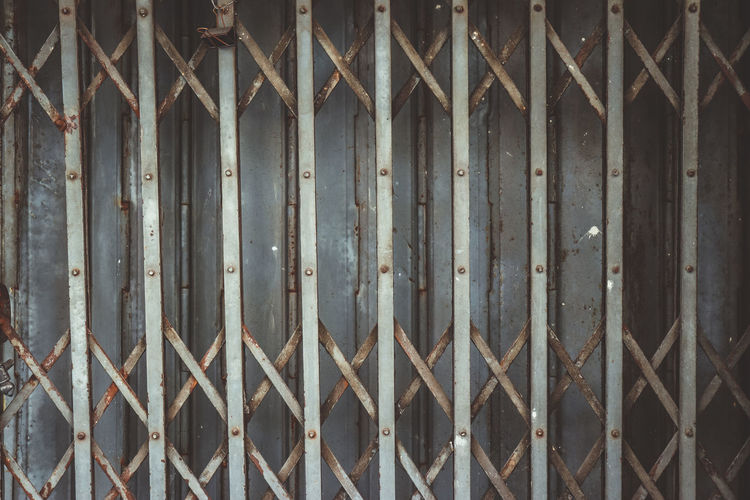 Closed. Backgrounds Close-up Iron Iron - Metal Metal Pattern Protection Rusty Safety Security