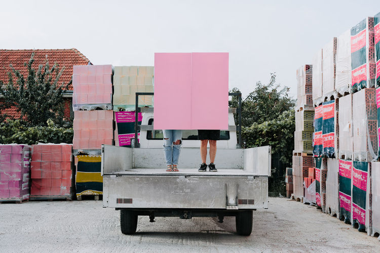 She had the final word. Pink it is. People Pink Construction Materials Display For Sale A New Beginning The Modern Professional A New Perspective On Life 2018 In One Photograph Humanity Meets Technology #NotYourCliche Love Letter The Art Of Street Photography Springtime Decadence