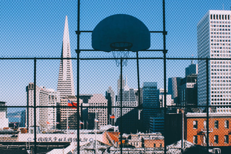 Basketball practice with a view