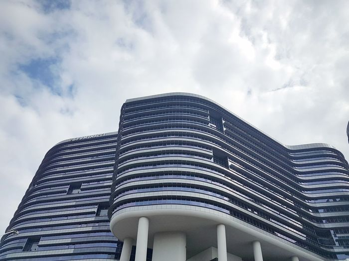 EyeEm Selects Architecture Modern Built Structure Cloud - Sky Low Angle View Skyscraper Building Exterior Business Finance And Industry Sky City No People Travel Destinations Outdoors Day Urban Skyline macc SPRM Putrajaya,malaysia Building First Eyeem Photo