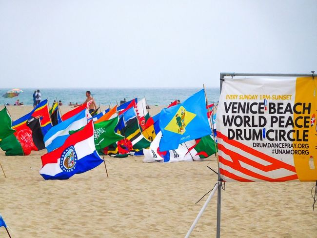 Venice Beach World Peace Drum Cirlce Multiple Countries Different Perspective Different Points Of View Different Styles Different Cultures Still Human Equality Come Together Unity Different Flags Stop The Killing Stop War Stop The Violence Stop The Madness