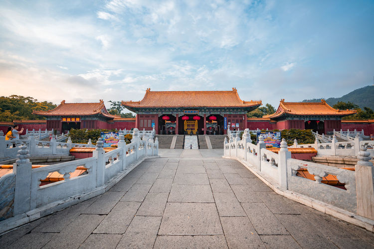 Yuanmingyuan Imperial Garden Zhuhai Architecture Building Built Structure China Cloud - Sky No People Outdoors Religion Sky Travel Travel Destinations Yuanmingxinyuan