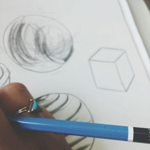 Square Cubo Drawing ✏ 7B Pencil Paint Class Little Details