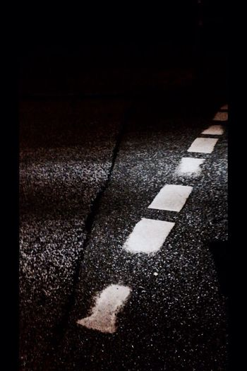 Street Night Road Marking Road Asphalt Asphaltcowgirl Blacknwhite Late