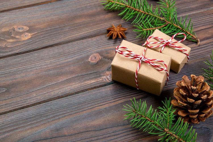 Pine cone on christmas tree
