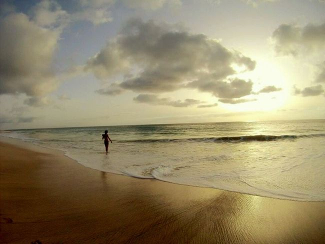 Africa Caboverde EyeEm Best Shots Contrast Sea Sunset Beach Woman Photooftheday Taking Photos
