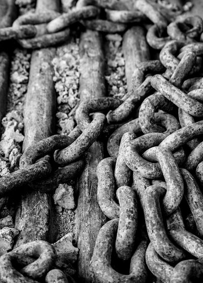 Rusty chain at