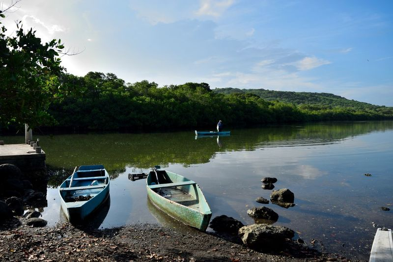 """A morning in the Mangrove, """"La Mancha"""" Cloud - Sky Day Lake Mexico Nature Nautical Vessel One Person Outdoors Pedal Boat People Rear View Reflection Simple Life Sky Tranquility Transportation Travel Destinations Tree Veracruz, México Water"""