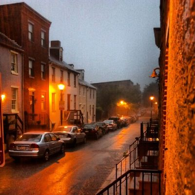 Lots of rain this morning - feels like I'm back in Ireland!