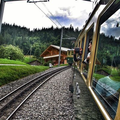 Zürich Eurodiary Euro Beautiful scenic serene Swiss instaawesome train mountains terrain green nature tourists view beautiful awesome switzerland jaungfrau topofeurope cold chilly archives